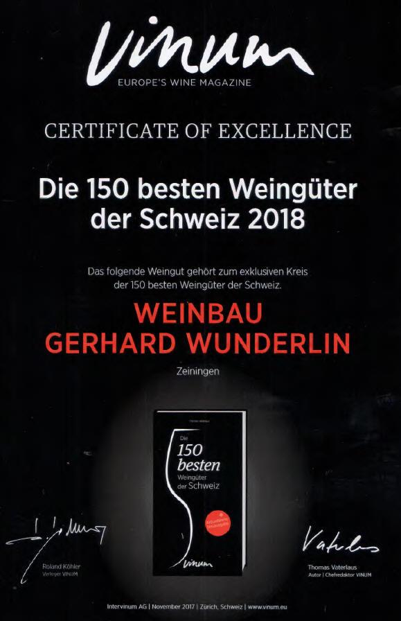 Vinum-Auszeichnung